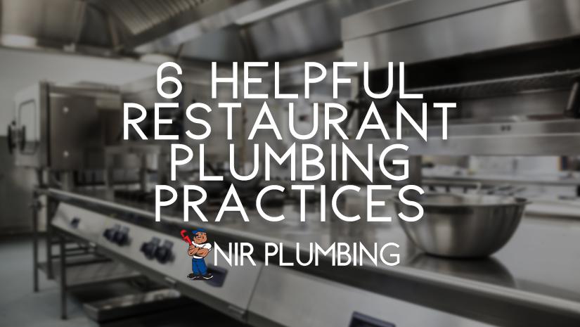 Restaurant Plumbing Practices
